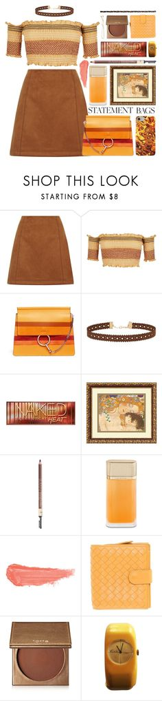 """gustav klimt"" by foundlostme ❤ liked on Polyvore featuring Miss Selfridge, Urban Decay, Amanti Art, Iman, Cartier, By Terry, Bottega Veneta, tarte, Grace Lee Designs and statementbags"