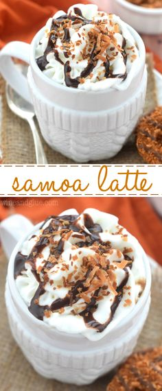 This Samoa Latte is your favorite Girl Scout cookie in latte form!