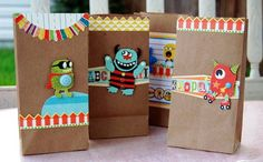 cute monster party bags