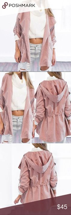 CCO SALECasual Hooded Windbreaker Jacket  Just in! Women's lightweight windbreaker available in light pink only! Super cute and fashionable for fall  Perfect to wear with some ripped jeans and favorite boots ☺️ Perfect for ALL occasions ☺️ Material: Polyester Jackets & Coats Utility Jackets