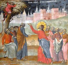 Sunday of Zacchaeus (Luke Zacchaeus, Gospel Reading, Go Fly A Kite, Jesus Is Coming, Last Supper, Catholic Art, In The Tree, Illuminated Manuscript, Climbing