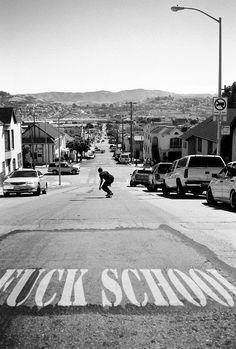 Fuck School / Escape, Humor, Skateboarding