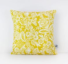Mustard cushion  Mustard yellow decor  Mustard pillow