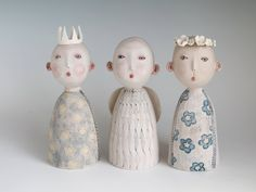 Thee Cherubs - original ceramic sculpture by midoritakaki on Etsy