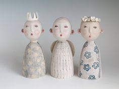 Thee Cherubs - original ceramic sculpture by midoritakaki on Etsy