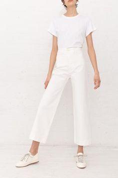Jesse Kamm Sailor Pant in Salt White | Oroboro | New York, NY