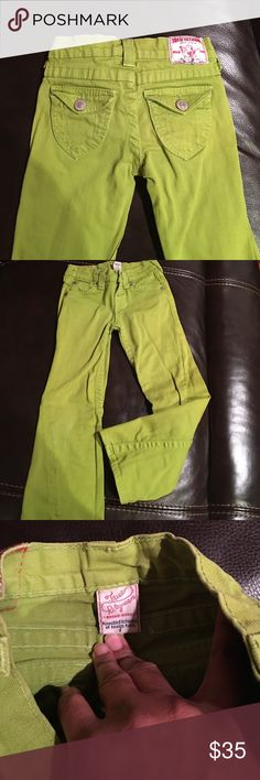 Girls true religion jeans Green trues. Worn only once or twice True Religion Bottoms Jeans