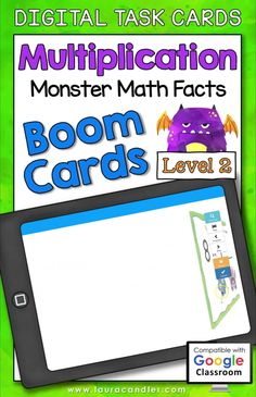 Multiplication Monster Math Facts Level 1 digital self-checking Boom Cards are a fun way for students to develop fluency with multiplication facts having factors from 2 to 9! #BoomCards #DigitalTaskCards #DistanceLearning #mathboomcards #mathfun Engage In Learning, Interactive Learning, Multiplication Facts, Math Facts, Teacher Hacks, Best Teacher, Student Incentives, Word Problems, Fun Math