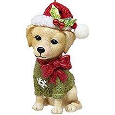 December Diamonds Ornament - Yellow Lab with Santa Hat