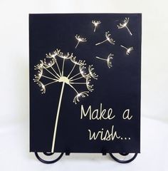 Make a Wish Canvas - Ever wondered how to make those DIY light up canvases? Here is a perfect small project to start with and inspire others! Make a wish ..
