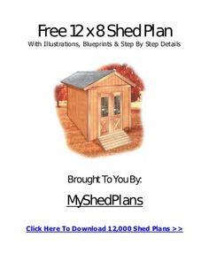12 x 8 Storage Building Shed Plan