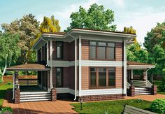 Проект «Оксфорд», общая площадь — 195,3 м2, автор проекта: архитектор Александра Лаврова, компания «Wooden House - Деревянный Дом», проекты домов в журнале «Деревянные дома»