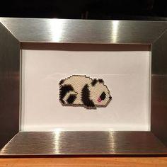 Un petit panda Modèle @cecile.v.e, la version a été revue par @emiliebary  #motifcecileve #motifemiliebary #jenfiledesperlesetjassume