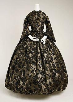 Dress, 1850's, American.