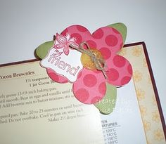 HSSPTC50 Red Flower Bookmark by jafields76 - Cards and Paper Crafts at Splitcoaststampers