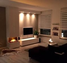 Exceptional home decor ideas information are available on our website. Take a look and you wont be sorry you did. Narrow Living Room, Living Room Tv, Home And Living, Home Fireplace, Living Room With Fireplace, Interior Design Living Room, Living Room Designs, Simple Living Room Decor, Cozy House