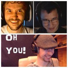 Markiplier, Jacksepticeye, and Yamimash lol jack's face! XD
