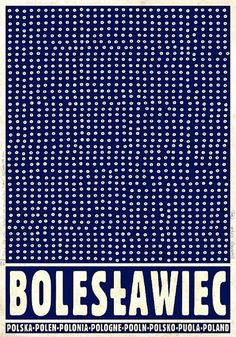 Boleslawiec, Bunzlau - city famous from traditional white blue pottery, Promotion poster Poster from new series of posters promoting Poland Check also other posters from PLAKAT-POLSKA series Original Polish poster designer: Ryszard Kaja year: 2012 size: Graphic Design Illustration, Illustration Art, Polish Posters, Blue Pottery, Vintage Posters, Travel Posters, Tourism Poster, Blue And White, Delft