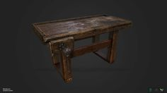 ArtStation - Workbench (Substance painter wood texture practice), Edward Godlach