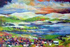 "Evening Mood by Christina Kjelsmark - 40"" x 60"", Acrylic on Canvas - $5,250.00 www.nordicartwork.com"