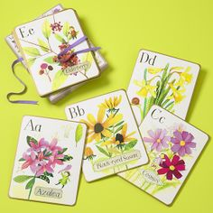 The Land of Nod | Kids Hanging Wall Flower Alphabet Cards in Wall Cards  I have these framed on Rose's walls