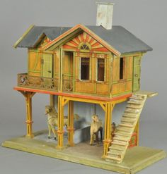 GOTTSCHALK STABLE : Lot 1710, cute, different style. .....Rick Maccione-Dollhouse Builder www.dollhousemansions.com