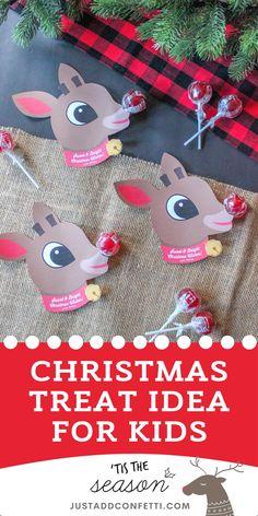 Diy Christmas Gifts For Kids, Christmas Treat Bags, Christmas Favors, Handmade Christmas Gifts, Christmas Fun, Rudolph Christmas, Christmas Presents, Christmas Classroom Treats, Holiday Gifts