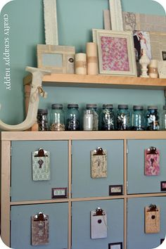 Love the little clipboards, use fun font to label each drawer