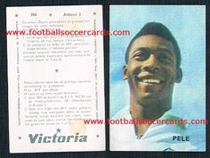 1969 Benelux card from chocolates, gum marks as issued. Pelé from Brussels. World Football, Football Soccer, Soccer Cards, Victoria, Album, Rarity, Brussels, Chocolates, Football Cards