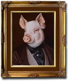 Pig Art, Extended Family, Pet Birds, Family Portraits, Cow, Cartoons, Characters, Peace, Painting