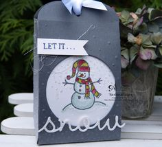 Sparkly Season - Barbara Meyer Christmas Gift Tags, Winter Christmas, Snow Place, Stampinup, Santas Workshop, Pretty Packaging, Card Tags, Homemade Cards, Artisan