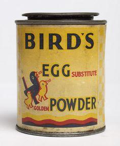 Tin of Birds Egg Powder. remembering Alfred Bird who is buried at Key Hill in Birmingham. Vintage Ads Food, Vintage Tins, Vintage Labels, Vintage Recipes, Vintage Advertisements, Vintage Kitchen, Vintage Packaging, Custard Factory, Bird's Custard