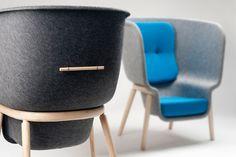 Benjamin Hubert for De Vorm - Pod Chair | modern design, contemporary design, chair design