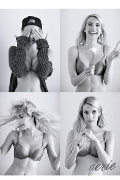 Emma Roberts sin photohop para Aerie
