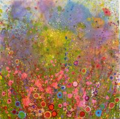 'Dreamy days' by Yvonne Coomber - 70x70cms - £1320 - www.lyndhrustgallery.co.uk