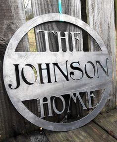 Description Let me make your custom family name sign an heirloom that will last for generations using 1/8 thick solid steel. Your family name sign will be cut out using a home made CNC plasma table that precisely cuts out your design using a 50,000 degree plasma torch. Once your design cools I start the finishing process to remove any unwanted slag and smooth out any sharp edges leaving you with a raw steel sign perfect for your antique finish, paint or natural rust. -Dimensions 18 w...