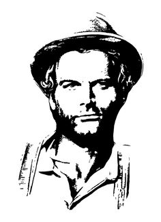 Retro Hits, Terence Hill, Black And White Face, Wood Burning Crafts, Portraits, Film Posters, Optical Illusions, Airbrush, Silhouette Cameo
