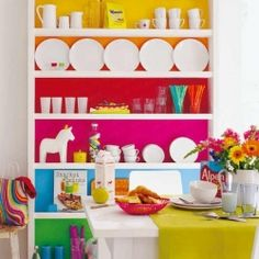 Looking at the color block trend... (photo via Wohn Idee)