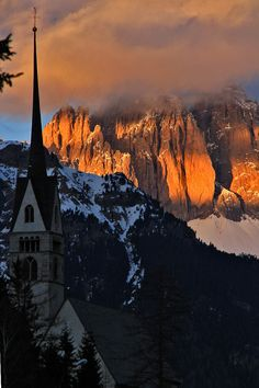 Sassolungo ,Trentino-Alto Adige, Italy ~  To look out at all of this handiwork of God, so beautiful!