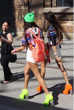 how two live in our neon boots!   http://howtwolive.com/location/australia/sydney/mbfwa-day-4/  #fashionblogger #neon #fashion