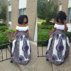 African print high waist maxi skirt by Julianaoklothings on Etsy