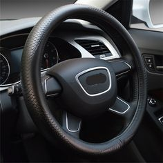 NewLove Universal Fits Most Car Styling Steering Wheel Non Slip Four Seasons Genuine Leather Embossed Snake Car Steering Wheel Cover -- Awesome products selected by Anna Churchill