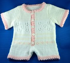 SUMMER LAYETTE Onesie - pink, blue or cream, matching hat, sandals and blankets ...