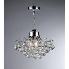 Warehouse of Tiffany, Boadicea 3-Light Crystal Chrome Chandelier, RL4296 at The Home Depot - Mobile
