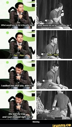 Love jensen's reaction, he just leaves and Misha just accepts that he made a mistake