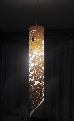 Luminaria hecha con tubo de PVC