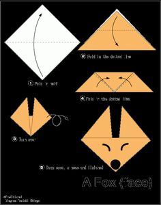Easy Origami For Kids.: Fox(face)
