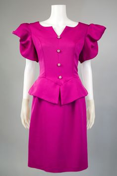1980s Clothing Trend Peplum Dress
