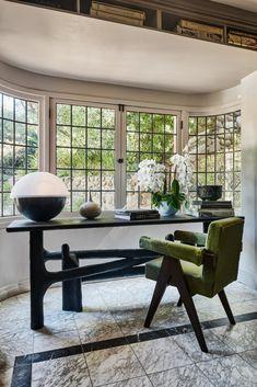 LAUREL CANYON – Romanek Office Set, Home Office, Office With A View, Study Office, Em Henderson, Laurel Canyon, Pierre Jeanneret, Marble Floor, Desk Set