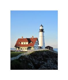 Maine Lighthouse Photograph 8 x 10 Portland by LovesParisStudio, $30.00